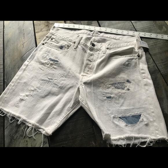 2bd54b20e New White Denim Slim Fit Cut Off Shorts. M 5c1ff4a97386bcffea7dcbc9